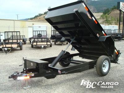 H&H Single Axle Landscape Hydraulic Dump