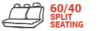 60/40 Split Seating